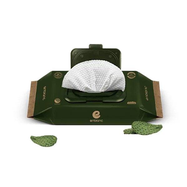 韓國 Enblanc 銀離子輕柔純水有蓋輕裝濕紙巾-仙人掌萃取物32抽