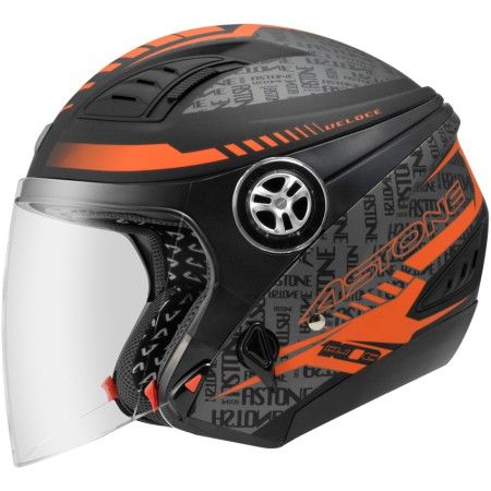 ASTONE DJ10C-OO19 消光黑橘 內墨鏡 透氣 吸濕排汗 全可拆洗 3/4罩 安全帽《淘帽屋》