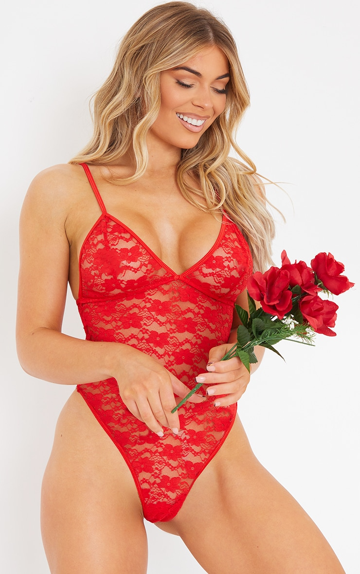 Red Basic Lace Body