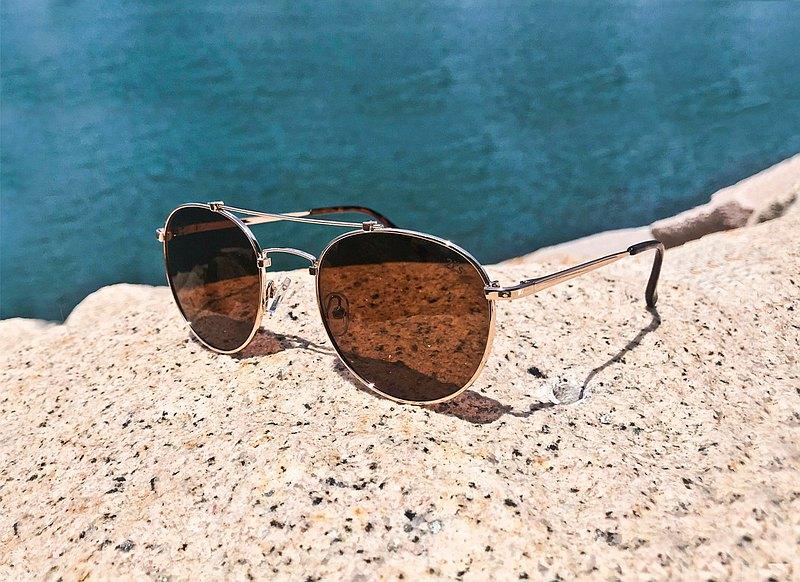 2is JimiC 太陽眼鏡 偏光墨鏡│雙樑大圓│咖啡色│抗UV400