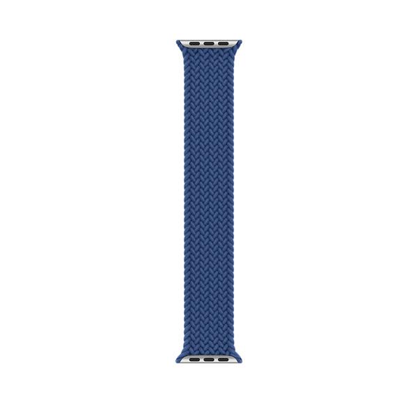 44 公釐大西洋藍色編織單圈錶環 - 10 號