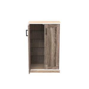 (組) 特力屋萊特 組合收納櫃 橡櫃黑網層胡門橡木腳 60x35x91cm