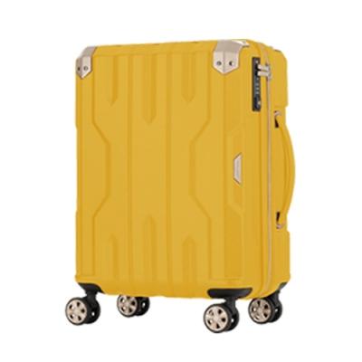 日本LEGEND WALKER 5109-60-24吋 (可擴充拉鍊箱/密碼鎖) 布丁黃