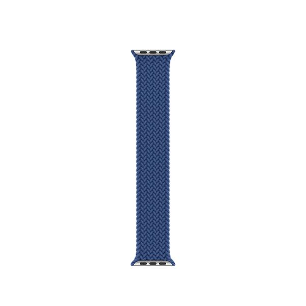 40 公釐大西洋藍色編織單圈錶環 - 8 號