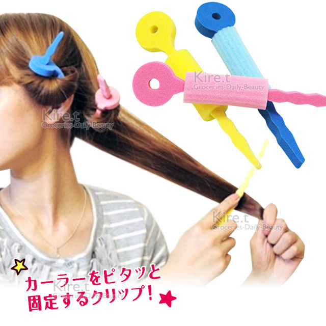 kiret 日本 空氣感 髮捲棒海綿髮捲 超值12入-卷髮 多色隨機