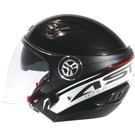ASTONE DJ10C-OO12 黑白 內墨鏡 透氣 吸濕排汗 全可拆洗 3/4罩 安全帽《淘帽屋》