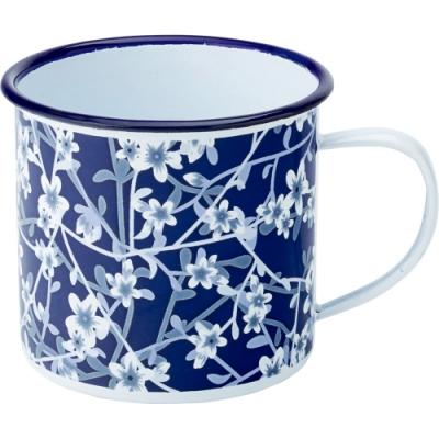 《Utopia》琺瑯馬克杯(花卉藍300ml)