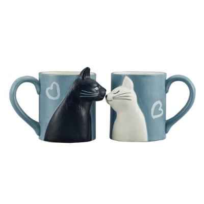 日本 sunart 對杯 - 貓貓親親