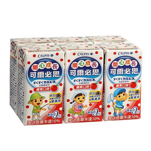 可爾必思蘋果乳酸菌160ml*6【愛買】