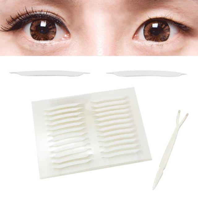 貝禮綺美妝☆韓國全隱形超強力雙面膠雙眼皮貼尖角極細版2mm超值加量168枚入-贈Y型棒