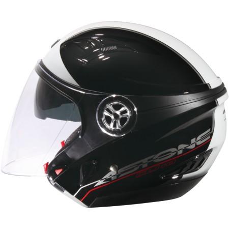 ASTONE DJ10C-OO10 黑白 內墨鏡 透氣 吸濕排汗 全可拆洗 3/4罩 安全帽《淘帽屋》
