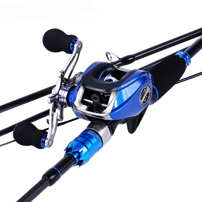 Sougayilang嗖嘎一郎漁具 套裝 四節便攜式碳素釣魚竿和17+1BB水滴輪釣魚捲軸組合 戶外旅行釣魚套裝 釣魚
