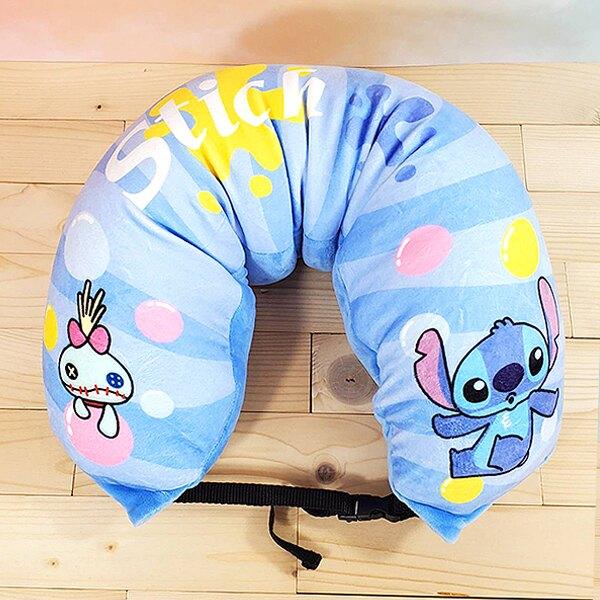 Disney 迪士尼 正版授權 史迪奇 造型兩用頸枕【蕾寶】