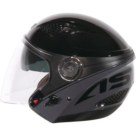 ASTONE DJ10C-OO05 黑灰 內墨鏡 透氣 吸濕排汗 全可拆洗 3/4罩 安全帽《淘帽屋》