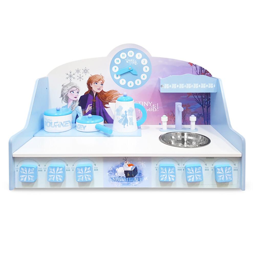 kikimmy正版授權冰雪奇緣桌上型木製廚房玩具組(4件組)