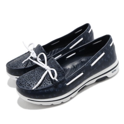 Skechers 休閒鞋 Go Walk 5 Nautical 女鞋 運動水鞋 排水 雨天必備 健走鞋大底 藍 白 111107NVY