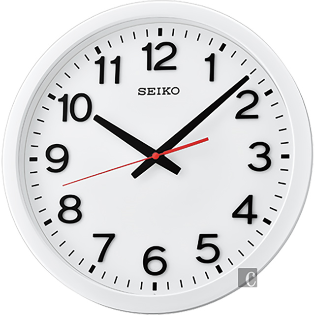 SEIKO精工 極簡風格大數字掛鐘 QXA732W -35cm