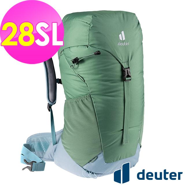 【德國deuter】AC LITE網架直立式透氣背包28SL (3420921 蘆薈綠/輕量)
