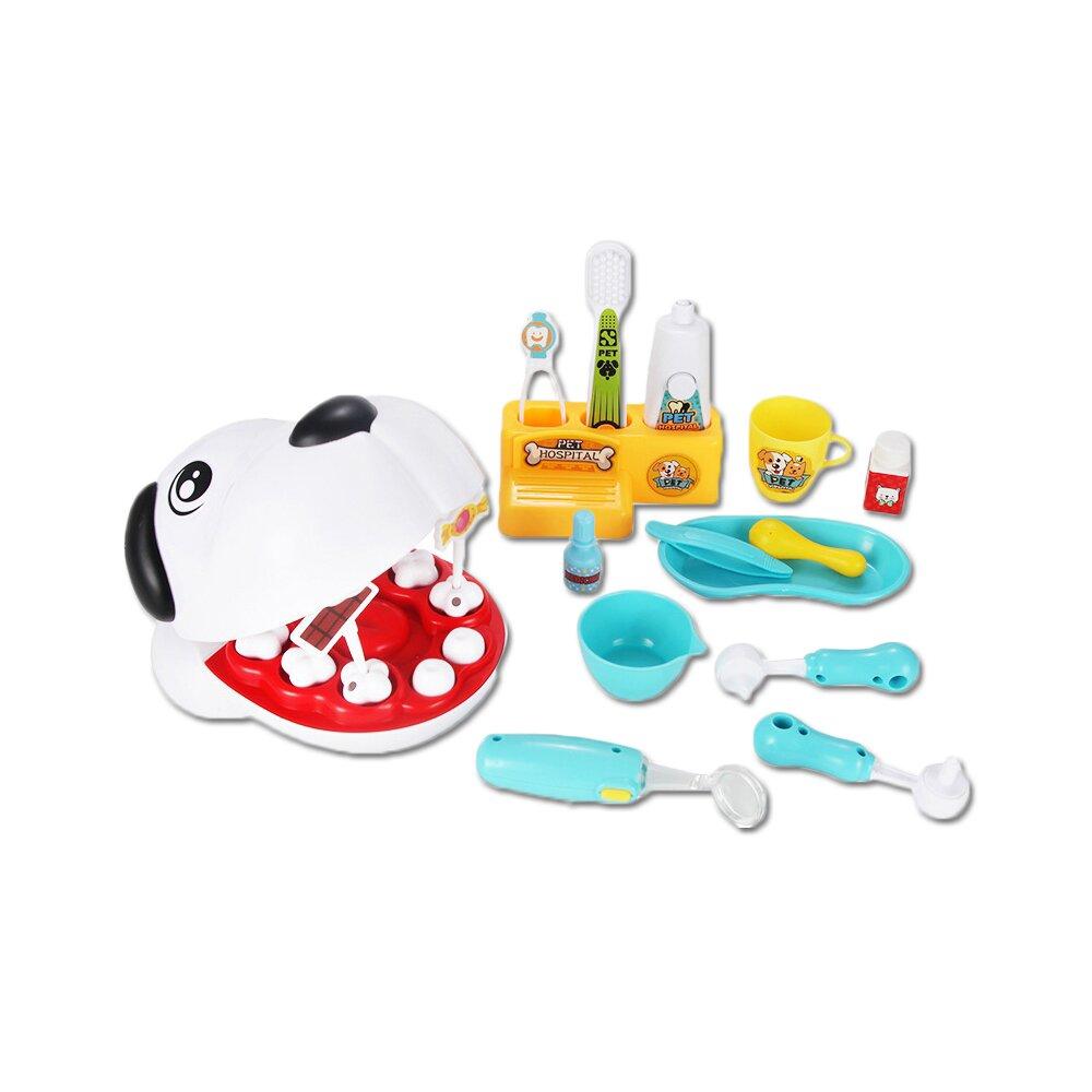 【孩子國】卡通狗仿真寵物牙醫玩具組 /家家酒玩具
