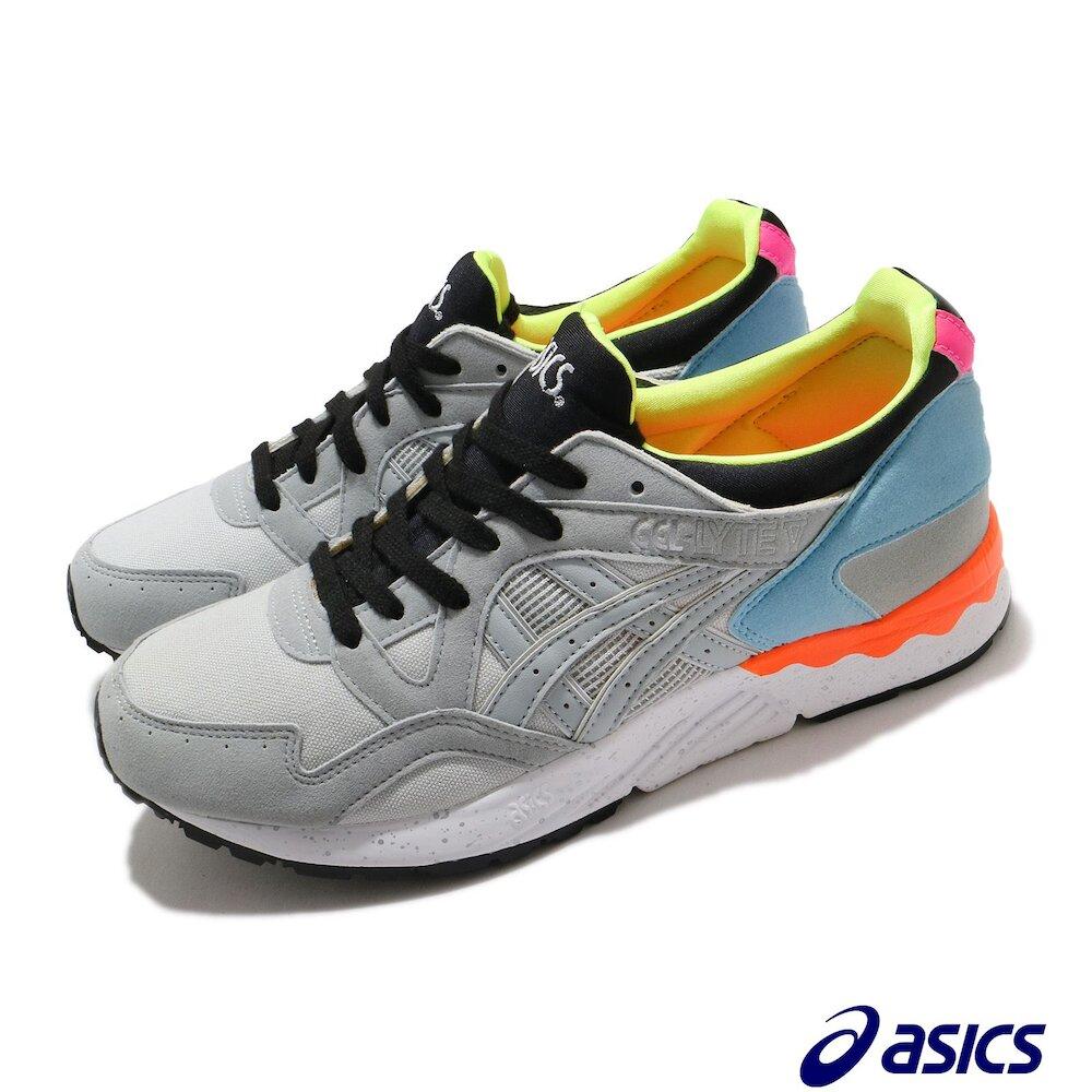 ASICS 休閒鞋 Gel-Lyte V 襪套式 男女鞋 亞瑟士 緩衝 穩定 輕量 運動 灰 黑 [1191A202020]