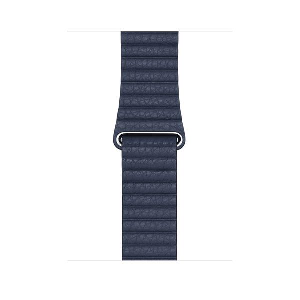 44 公釐潛水藍色皮革錶環 - L