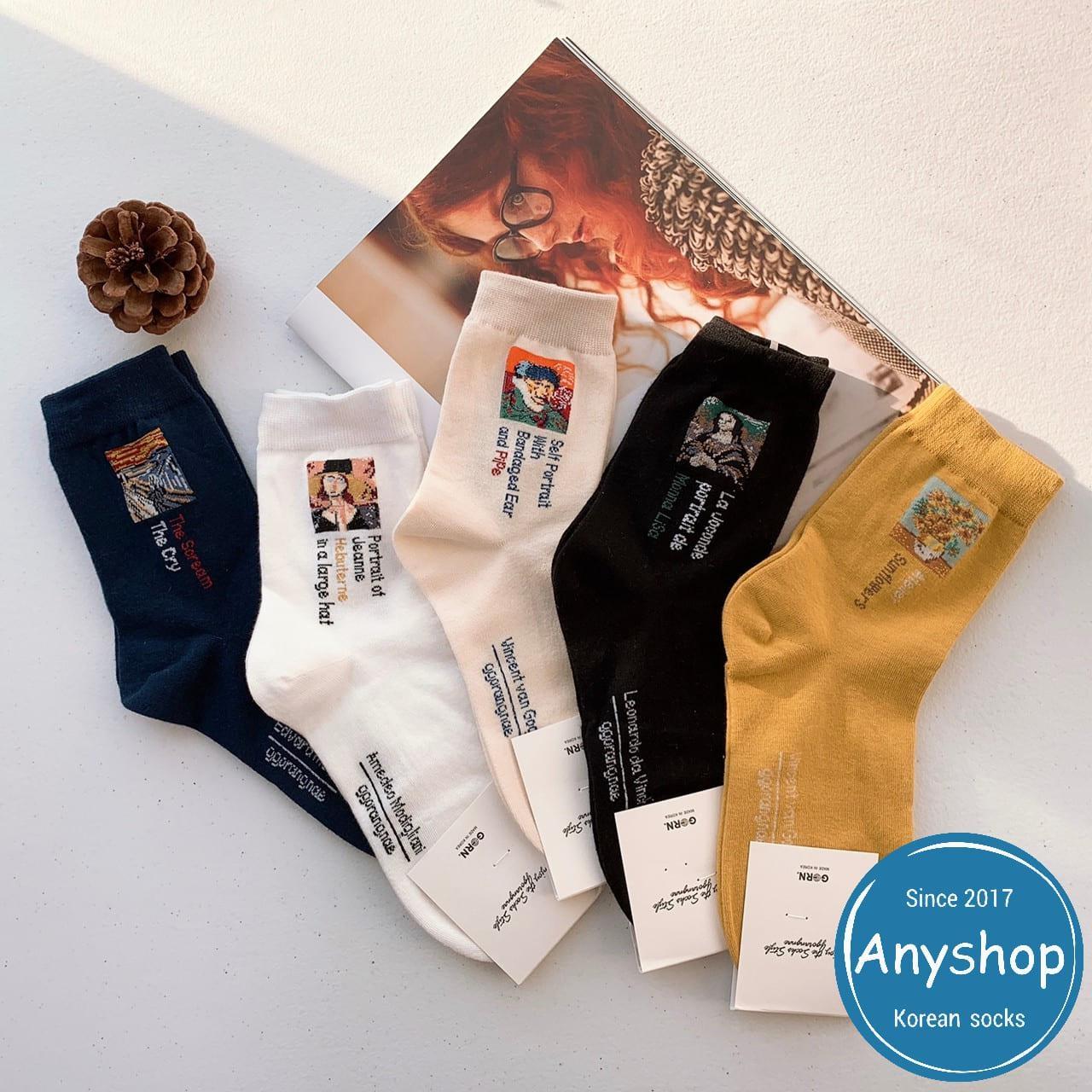 韓國襪-[Anyshop]經典小名畫系列長襪