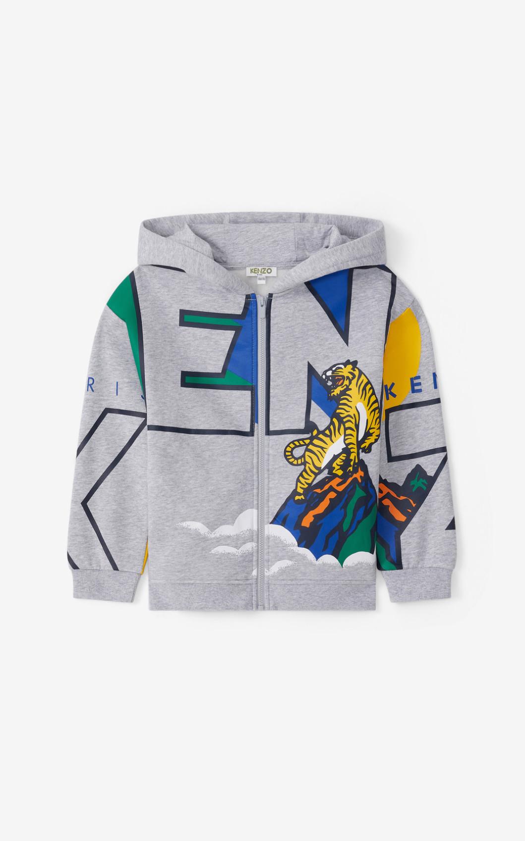 KENZO Sweatshirt zippé à capuche 'Ventura'