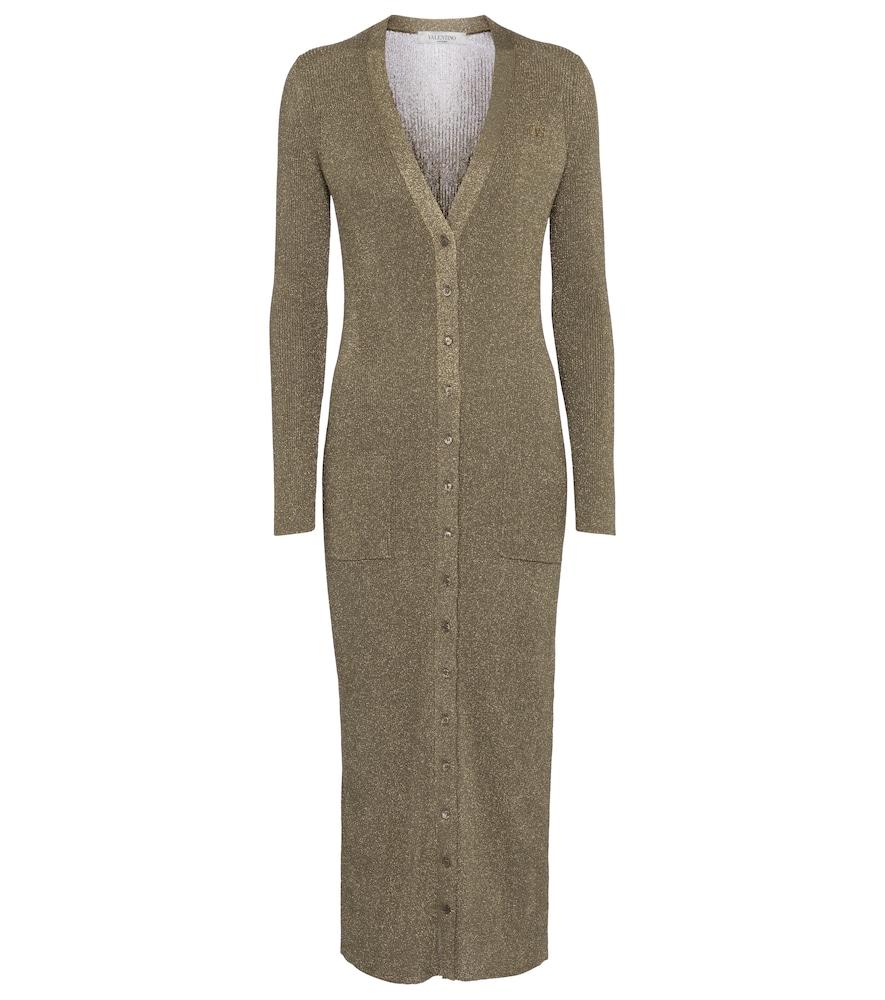 Valentino ribbed-knit midi dress