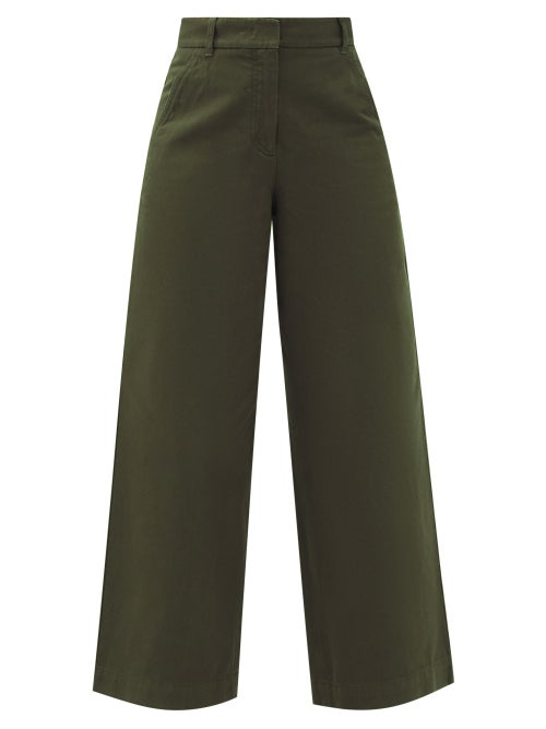 Weekend Max Mara - Nereo Trousers - Womens - Dark Green