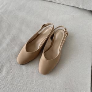 韓國空運 - V Cut Pumps Slingback Heel 3cm 跟鞋