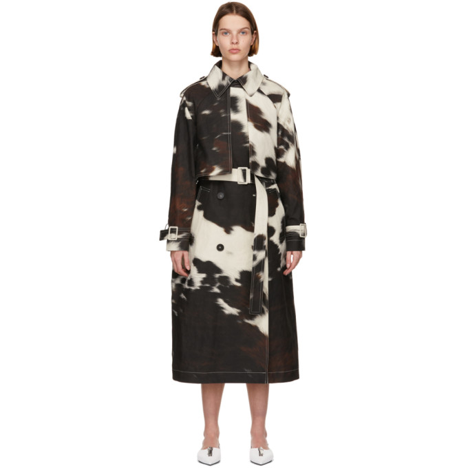 Stella McCartney 多色 Leanna Cow Print 风衣