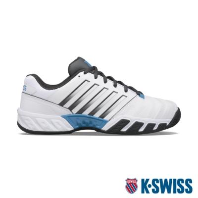 K-SWISS Bigshot Light 4輕量進階網球鞋-男-白/灰/藍