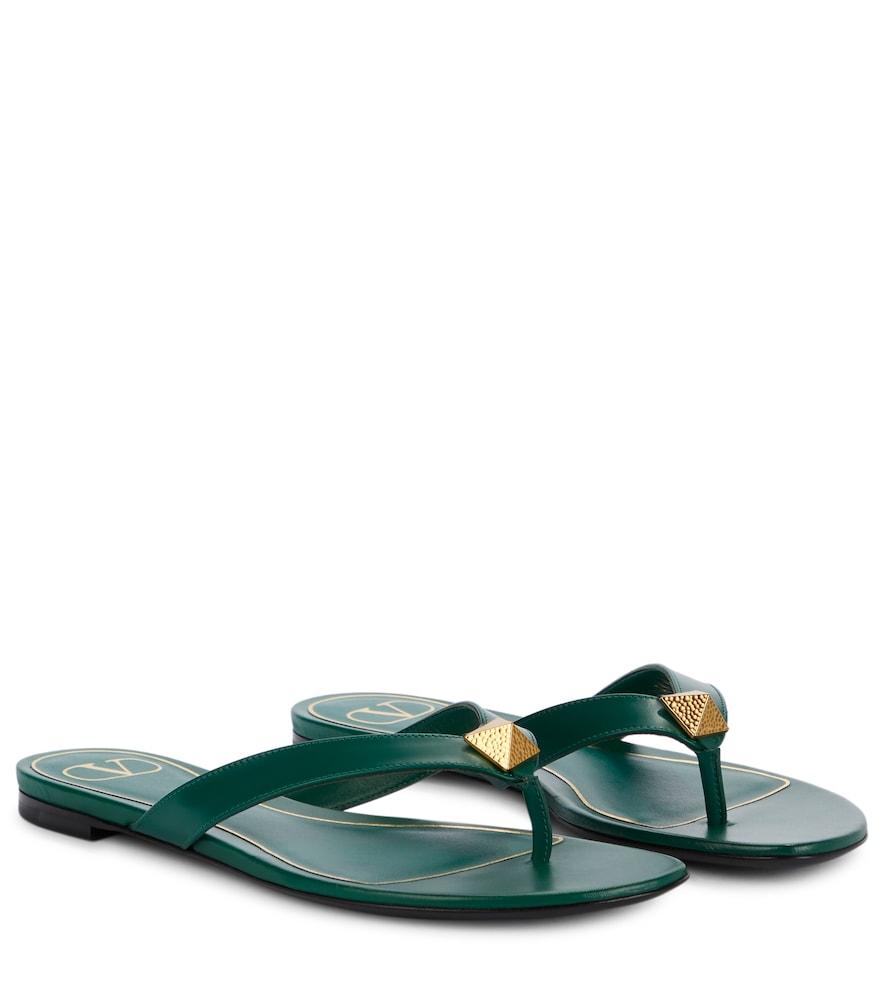 Valentino Garavani Roman Stud leather thong sandals