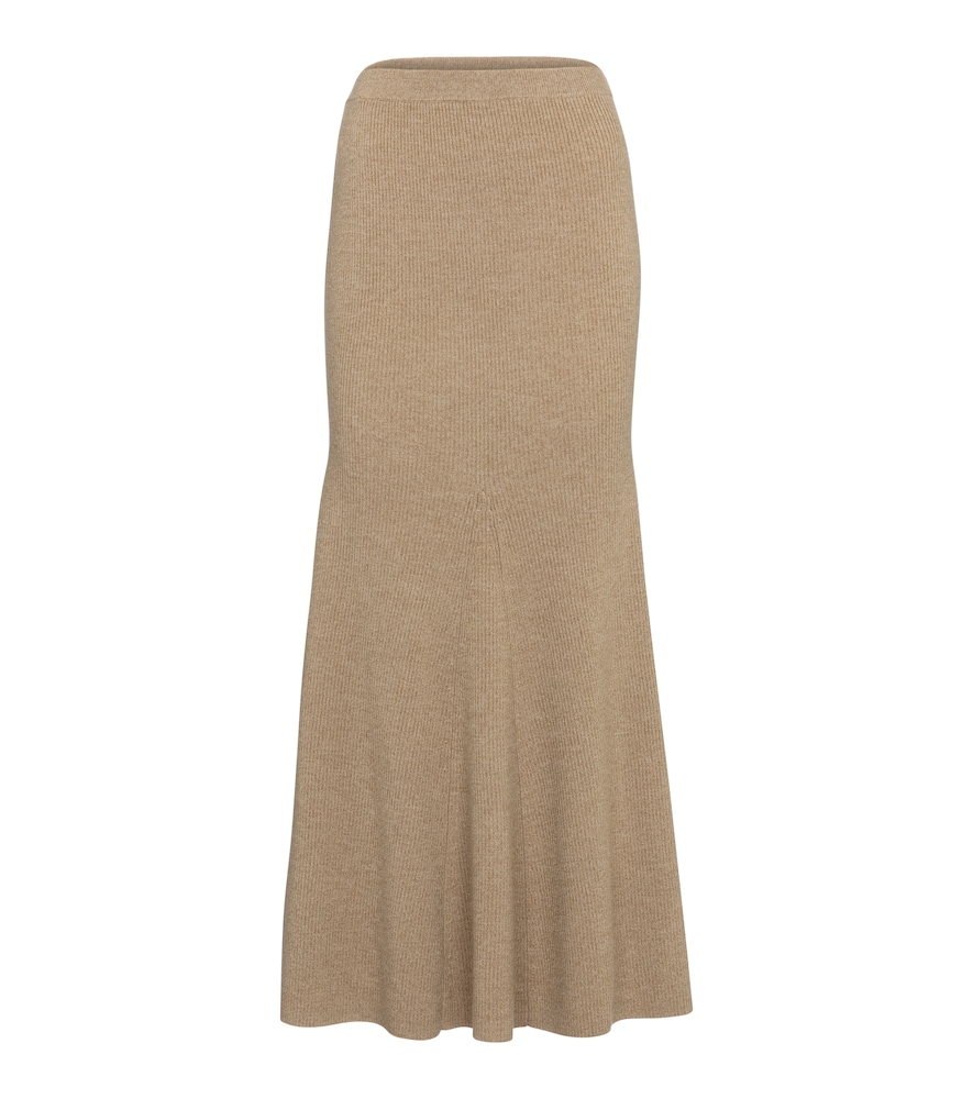 Alina wool-blend midi skirt