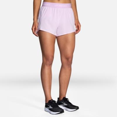 BROOKS 女 Chaser 3吋慢跑短褲 _藕紫(221463571)