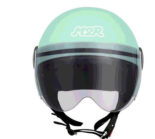 [COSCO代購] W130637 M2R 機車半露臉式防護頭盔 #M505 XS 消光粉綠