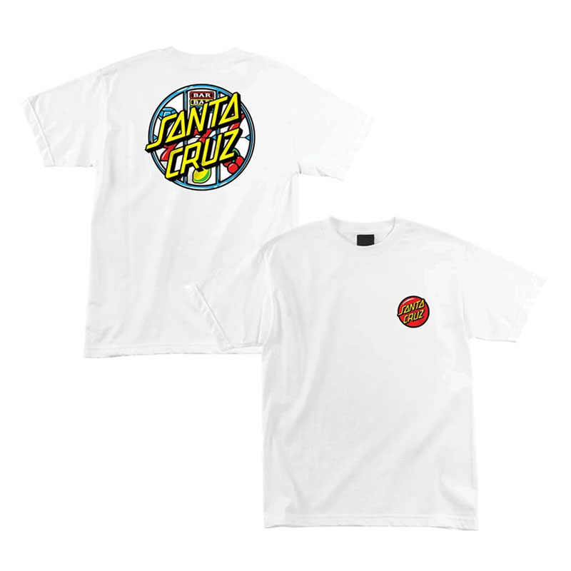 Santa Cruz - 44154920-WHT Jackpot Dot Tee 短T (白色)