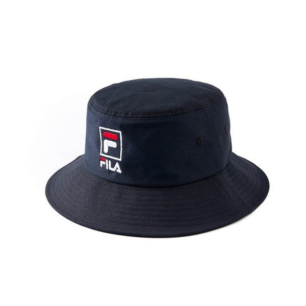 FILA 寬帽簷漁夫帽/筒帽-黑 HTV-1203-BK GIANT MALL