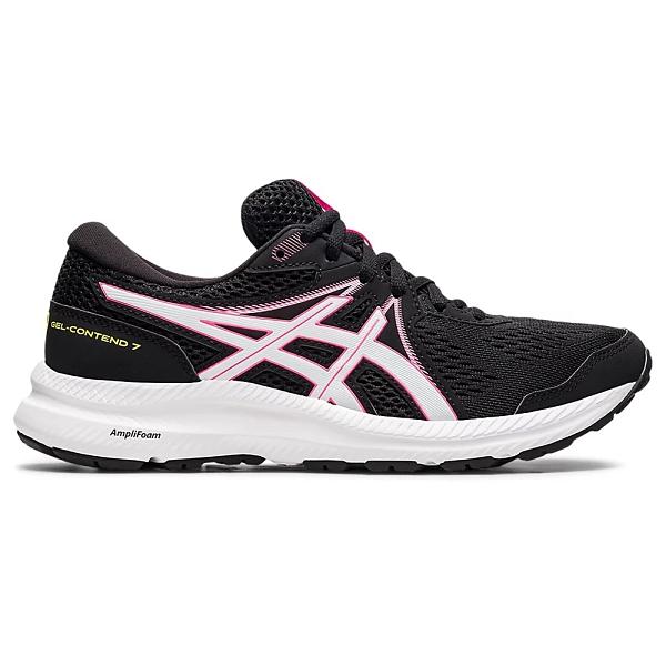 ASICS GEL-CONTEND 7 女鞋 慢跑 緩衝 透氣 支撐 黑 粉【運動世界】1012A911-006