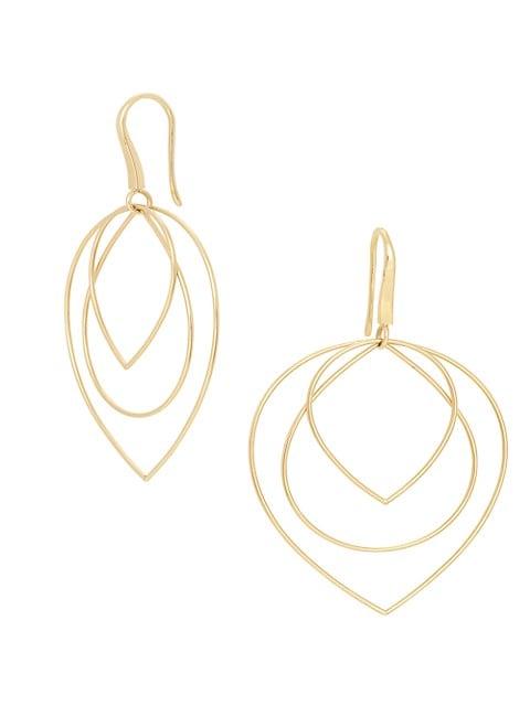 3-Tier 14K Yellow Gold Earrings