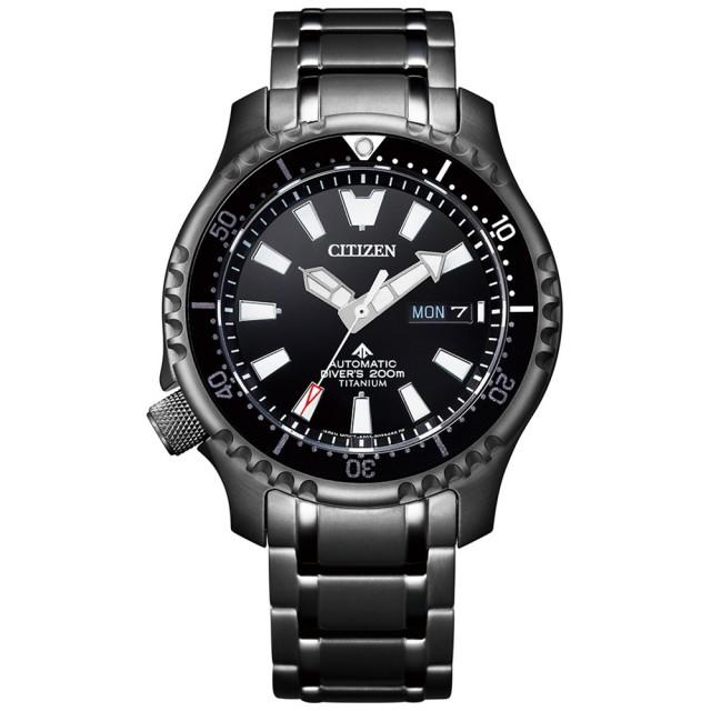 【CITIZEN 星辰】店鋪限定CITIZEN星辰2021限量黑河豚PROMASTER 機械錶(NY0105-81E)