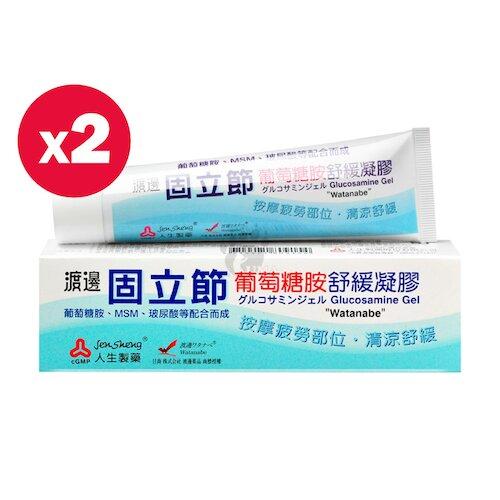 人生製藥 渡邊 固立節葡萄糖胺舒緩凝膠 65g (2瓶)