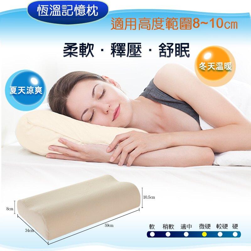 【睡眠達人irest】恆溫記憶枕頭MC001,密度110,專利枕頭密碼程式協助選枕、冬季不變硬、夏季不塌陷、符合人體工學、釋壓、透氣(1入)