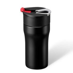 丹麥PO:便攜法壓保溫咖啡杯-紅354ml(12oz)