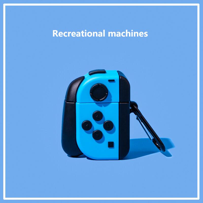 airpods保護套 1/2/pro 適用 switch遊戲機手把  軟殼材質 藍色款