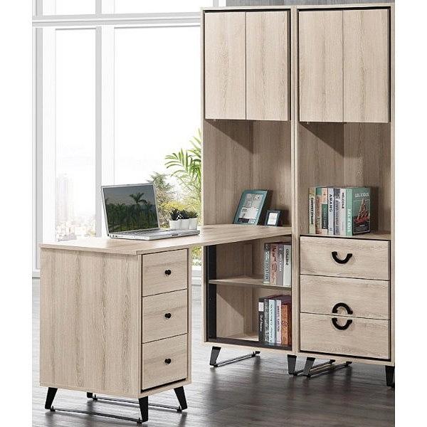 書桌 電腦桌 QW-509-2A 萊斯4尺組合書桌櫃(全組)萊斯2x6.3尺三抽收納櫃【大眾家居舘】