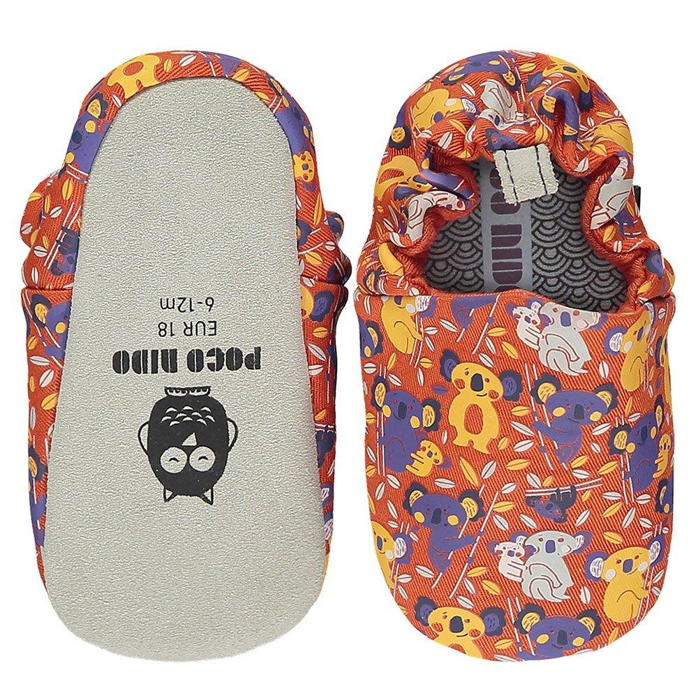 【英國 POCONIDO 】2021新款-手工嬰兒鞋 (抱抱無尾熊 - 熱情橘)