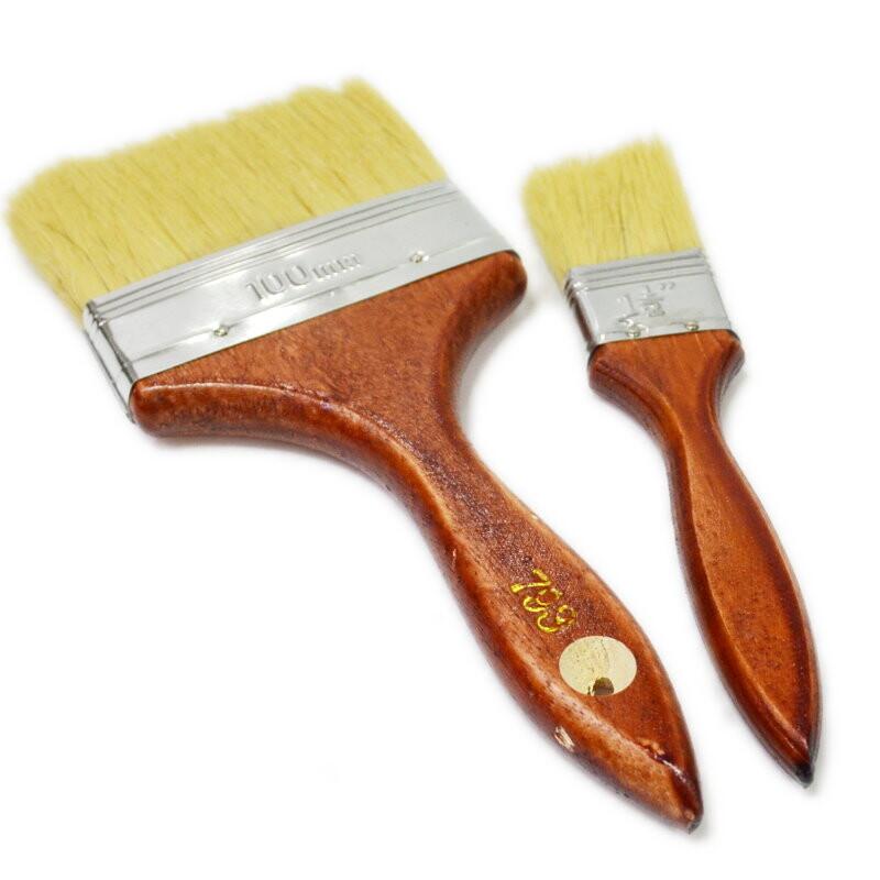 a490e紅木柄長毛油漆刷 3吋 加厚加長毛刷 外銷刷/烤肉刷/刷子/料理刷