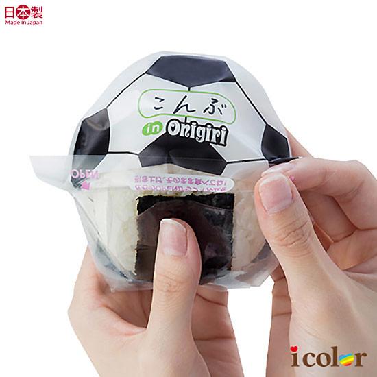 料理圓形飯糰包裝袋(足球)