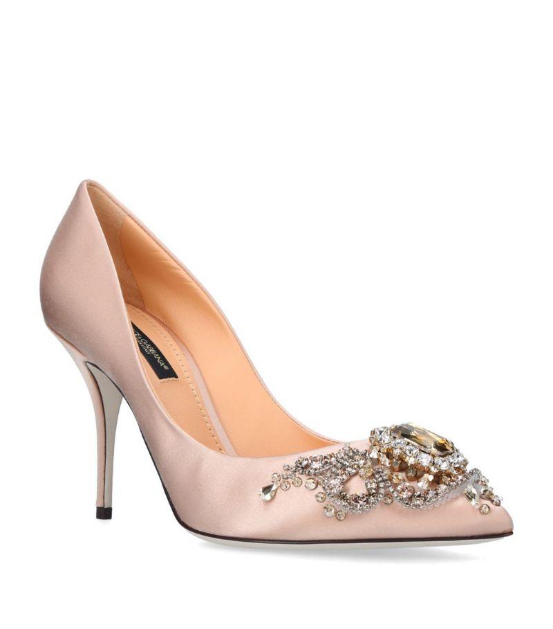 Dolce & Gabbana Crystal-Embellished Cardinale Pumps 90